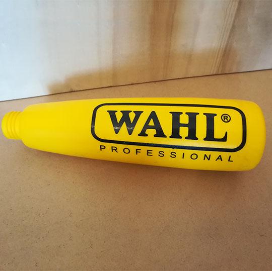 چاپ برند WAHL روی بطری - مجموعه چاپ صنعتی ایساتیس